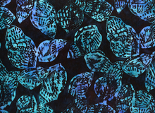 Batik Conch Shell Cotton Black Blue