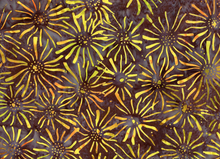 Batik Floral Cotton Brown
