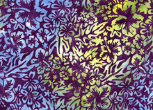 Batik Floral Cotton Paradise Purple