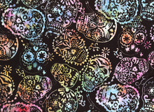 Batik Sugar Skulls Candy Cotton