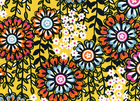 Bazaar Swing Floral Fabric Yellow
