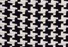 Big Houndstooth Upholstery Fabric Black and Natural