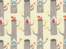 Birch Circa Woodland Friends Organic Cotton Cream