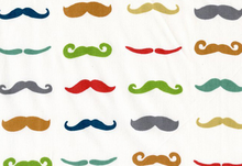 Birch Just for Fun Staches Organic Cotton White
