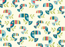 Birch Organic Cotton Fabric Safari Soiree Tucan Tango
