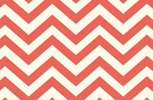 Birch Skinny Chevron Organic Cotton Knit Coral