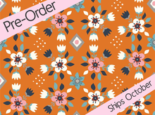 Birch Wild Land Organic Cotton Flowerbed Orange