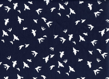 Birds in Flight Cotton Navy
