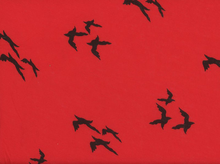 Birds Knit Red and Black
