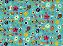 Birds of a Feather Fiesta Cotton Teal