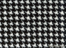 Black and White Houndstooth Anti Pill Fleece