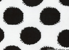 Black Dot Knit White