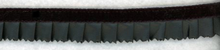 Black Faux-Leather Ruffle Trim