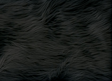 Black Shag Faux Fur Fabric