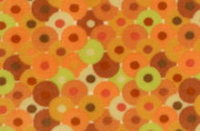 Bliss Fleece Fabric Orange Circles by Valori Wells