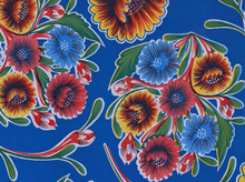 Bloom Floral Oilcloth Royal Blue