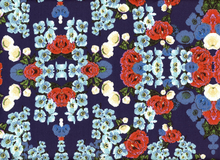 Bloom Sateen Navy Floral