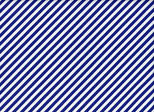 Blue and White Bias Striped Cotton