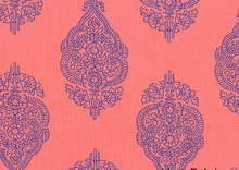Boho Henna Cotton Fabric Pink