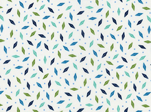 Bold Moves Abstract Leaf Cotton Green