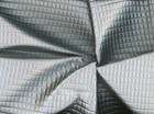 Bounty Quilted Pleather Metallic Silver