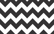BPA Free Chevron Laminated Cotton Fabric Black