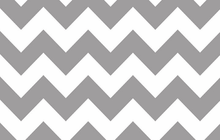 BPA Free Chevron Laminated Cotton Fabric Grey