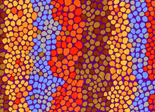 Brandon Mably Pebble Mosaic Purple