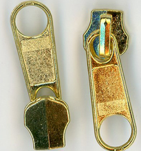 Brass Colored Metal Zipper Pull #5