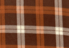 Brown Plaid Fleece