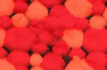Bubble Faux Fur Fabric Red