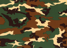 Camo Swimwear Knit Fabric Green