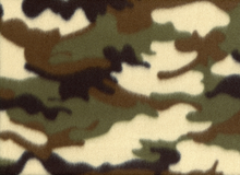Camouflage Fleece Fabric Green