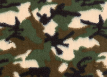 Camouflage Printed Minky Cuddle Fabric Green