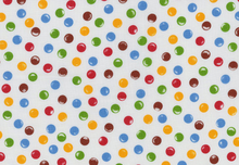 Candy Dot Fabric White