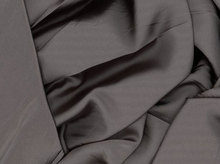 Charcoal Tahari Satin Fabric