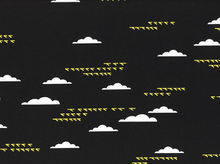 Charley Harper Maritime Birds and Clouds Organic Cotton Black