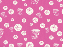Charley Harper Maritime Sand Dollars and Jellies Organic Cotton Pink