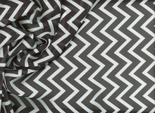 Chevron Chiffon Black and White