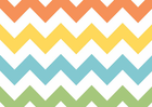 Chevron Cotton Fabric Rainbow