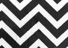 Chevron Cuddle Minky Fabric Black
