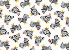 Chix Allover Cotton Fabric Ivory