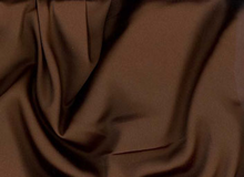 Chocolate Brown Tahari Satin Fabric