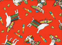"Cinco De Mayo Chihuahua Cotton Orange <br><FONT COLOR=""fc7db0"">Employee Favorite!</FONT>"