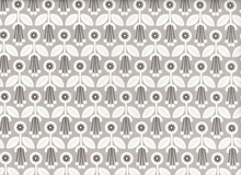 Cloud 9 Grey Abbey Deco Floral Organic Cotton Grey
