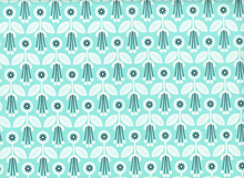 Cloud 9 Grey Abbey Deco Floral Organic Cotton Spearmint