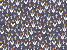 Cloud 9 Morning Song Dotty Blooms Organic Cotton Navy