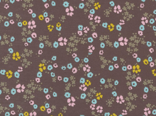 Cloud9 Scattered Floral Organic Knit Brown