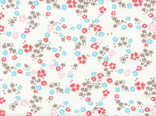 Cloud9 Scattered Floral Organic Knit White