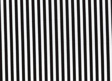 Clown Stripe Cotton Black White